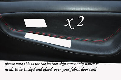 Red Stitch Fits Nissan 200 Sx S13 88-93  2 X Door Card Trim Covers Only