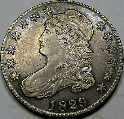 1829/1827 O-101 Capped Bust Half Dollar Choice AU++...Nice & Original, Neat Coin