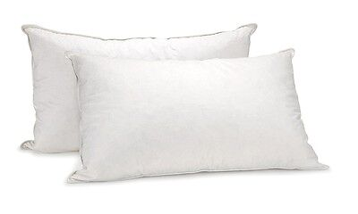 Royal Comfort Goose Feather 1000Gsm Pillows - Set Of 2 With 100% Cotton Casing