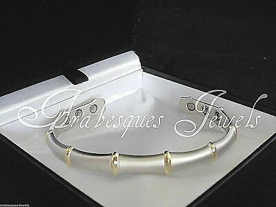 Top Quality Ladies Magnetic Copper Silver/gold Bamboo Bangle/pain Relief Ajmb