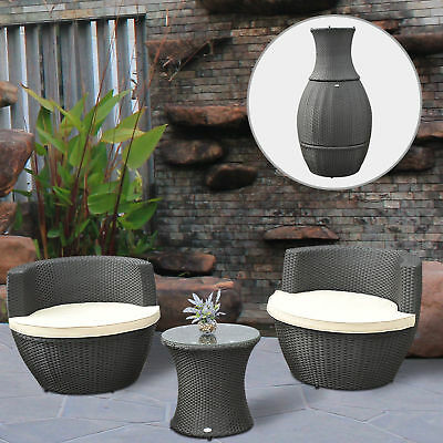 New 3pc Outdoor Stackable Rattan Wicker Patio Chat Chairs&Table Furniture Set
