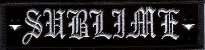 Sublime Logo With Studs Embroidered Patch Glossy Black Background New  !