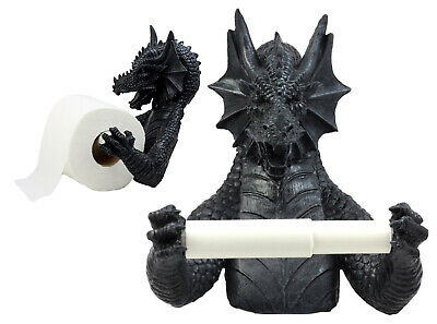 Gothic Wingless Dragon Resin Toilet Paper Holder Awesome Home Decor