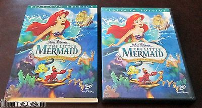 Disney THE LITTLE MERMAID (2006) 2 Disc DVD Platinum Edition ~ FREE S/H