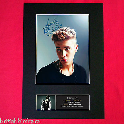 JUSTIN BIEBER No2 Signed Autograph Mounted Photo Repro A4 Print 444