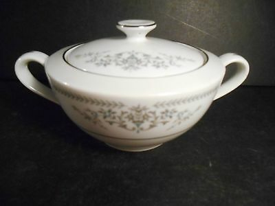 Banbury Inn Fine China Japan Covered Sugar Bowl with Soft Blue Flowers Japan