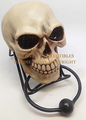 Death Awaits Skull Door Knocker Skeleton Metal Ring Knocker Ball Sculpture