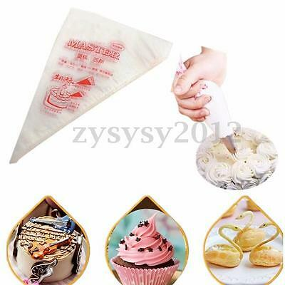 100pcs Large Plastic Disposable Icing Piping Pastry Frosting Bag Cake Sugarcraft
