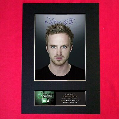 AARON PAUL Breaking Bad Signed Autograph Mounted FAN CLUB Photo PRINT A4 430