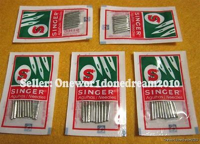50x Singer Needles Lot Regular Ball Point 2020 Size 90/14 New Wholesale Size 14