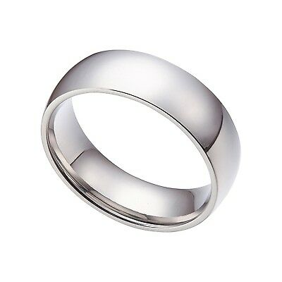 Men/Womens Silver 8mm Stainless Steel Wedding Band Ring Size6-15 Half Size SR004