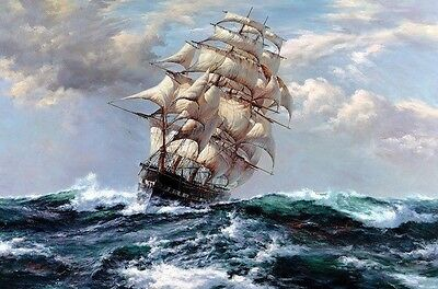 "Canvas Print sea voyage Ship Oil painting Picture Printed on canvas 16""X24"" P176"