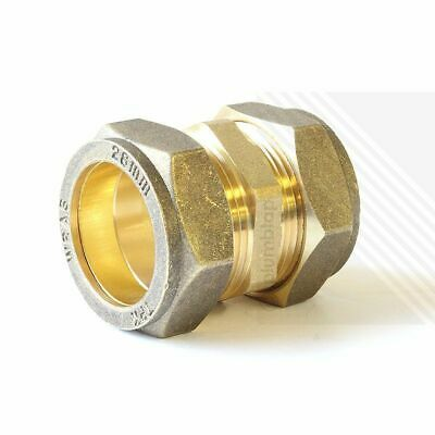 Straight Coupling Brass Compression Fittings 8mm 10mm 15mm 22mm 28mm Multi Packs