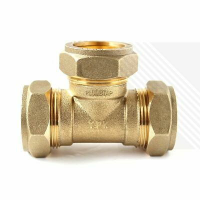 Equal Tee Brass Compression Plumbing Fittings 8mm 10mm 15mm 22mm 28mm Multi Pack