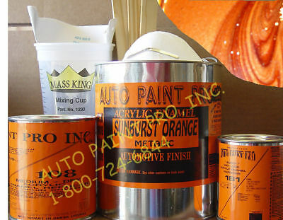 Sunburst Orange Met acrylic enamel single stage auto body restoration paint kit