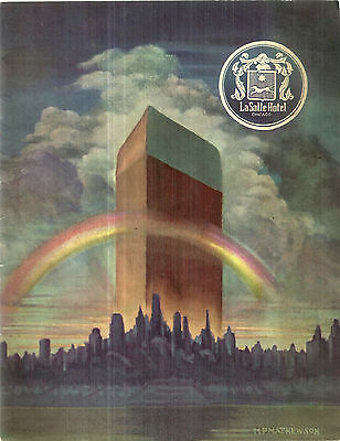 Vintage Promotional Book  for LaSalle Hotel in Chicago