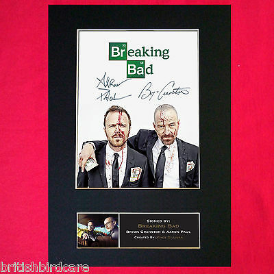 BREAKING BAD #2 Signed Autograph Mounted Photo RE-PRINT A4 Cranston Paul 432