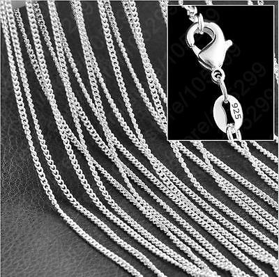 New! Wholesale lots 5pcs 925 Sterling Silver Rolo Curb Chain Necklace 16-30 inch