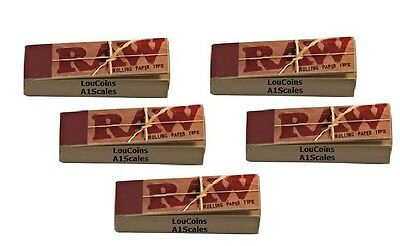 5 Packs/250 pcs Raw unbleached TIPS for hand rolled cigarette rolling paper new