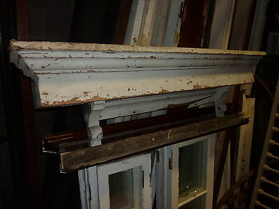 c1860 square box style WINDOW pediment VICTORIAN lintel ~ header 53 x 14 x 9.5""