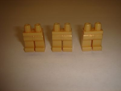 3 Lego Pearl light Gold Plain Legs parts For Star Wars City Minifigure  New lot