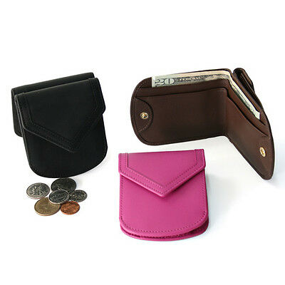 Royce Leather City Wallet, Top Grain Nappa Leather, Wildberry