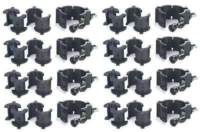 8 CHAUVET CLP-10 360° Wrap Around O-Clamps Truss Light Mounting - 75 lb Capacity