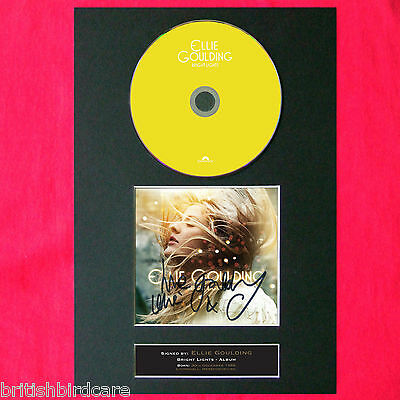 ELLIE GOULDING Bright Lights Album Signed CD COVER MOUNTED A4 Autograph Print 51