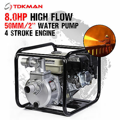"New 2 Inch 2"" Petrol High Flow Water Transfer Pump Fire Fighting Irrigation"