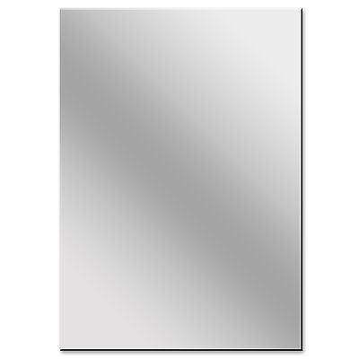 A3 & A4 Acrylic Silver Mirror Sheet Plastic Perspex Plexiglass Safety Panels