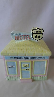 Fitz and Floyd Route 66 1993 Roadside Motel Omnibus Canister Cookie Jar #G260