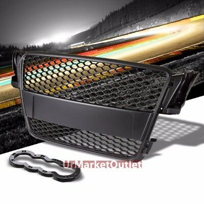 Front Black RS Honeycomb Replacement Mesh Grille Grill for Audi 08-11 A5 TYP 8T