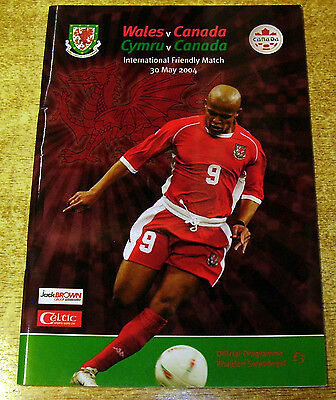 2004 FRIENDLY INTERNATIONAL - WALES v CANADA