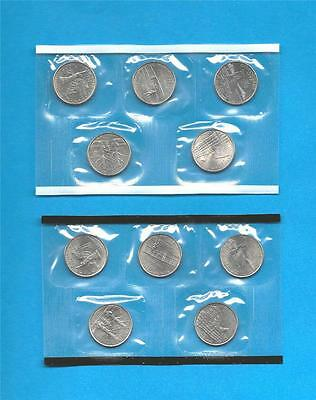 2001 P and D State Quarters - BU Uncirculated-still in mint cellos-TEN COINS