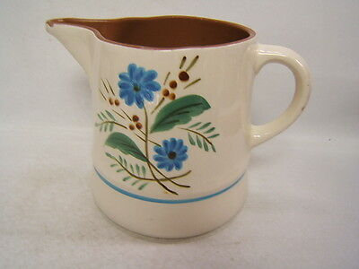 Stangl Bachelor's Button Large Pitcher Hand Painted Vintage Art Pottery