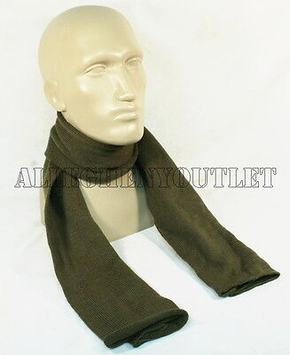 "USGI Military Army 100% Wool 52"" OLIVE GREEN SCARF SCARVE  Double Knit EXC"