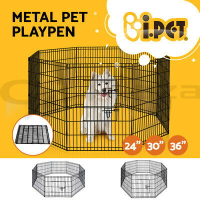 8 Panel Pet Dog Playpen Puppy Portable Exercise Cage Enclosure Fence Play Pen