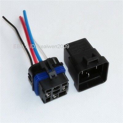 4sets Waterproof Integrated Automobile Relay 12V 40A 4PIN AUTO RELAY Sockets