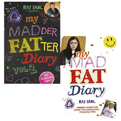 Rae Earl Collection My Mad Fat Diary,My Madder Fatter Diary 2 Books Set