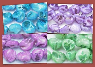 Chunky Nugget Shell Mother of Pearl Beads Pick your Colour