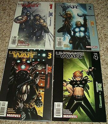 ULTIMATE WAR 1 2 3 4 complete run 1st print Ultimates vs. Ultimate X-Men Millar