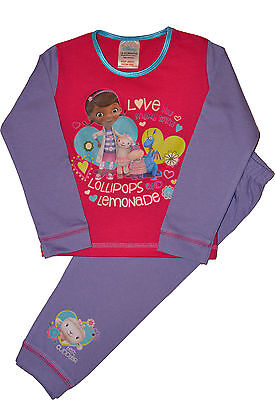 DOC5 Girls Disney Doc McStuffins Snuggle Fit Cotton Pyjamas Ages 18 Mths to 5 Yr