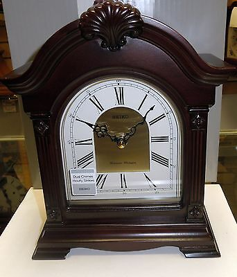 Seikomantel Dark Brown Wooden Case With Westminster/Whittington Chime Qxj024Blh