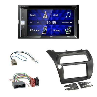 JVC KW-V250BT DVD CD USB Radio + 2-DIN Blende für Honda Civic 8.Gen 2006-2012