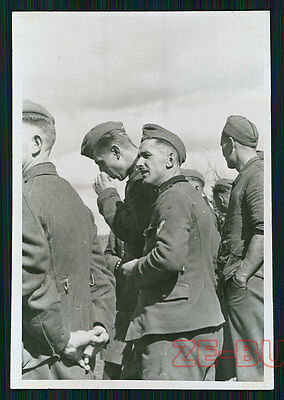 vintage photo YOUNG MEN BOYS GERMAN SOLDIERS WWII 1940s