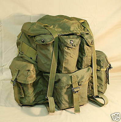 2 Large US Military Army ALICE PACKS Combat Field Backpack RUCKSACK ONLY.GC