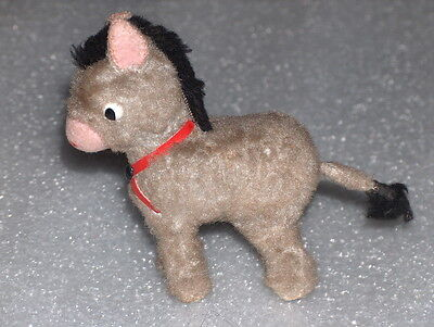 VINTAGE CUTE WIND-UP PLUSH TOY - DONKEY, RUSSIA/USSR, 1960-70