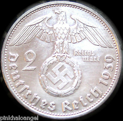 Germany - German Third Reich - German Silver 2 Reichsmark Coin - WW2 Coin