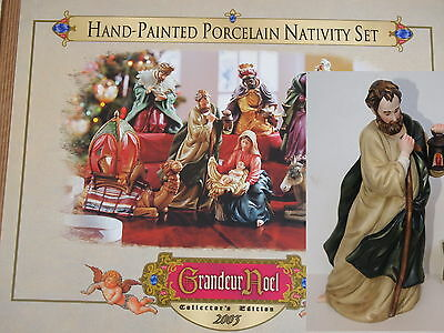 """Grandeur Noel 2003 Collector's Edition REPLACEMENT JOSEPH FIGURINE ONLY 10.5"""""""