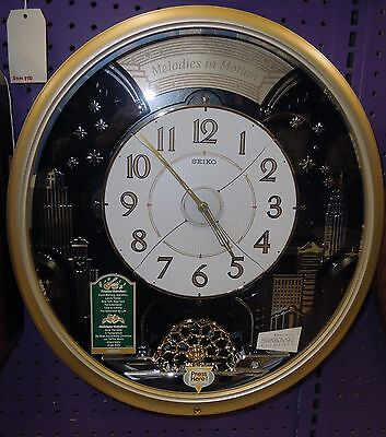 Seiko Melody In Motion Clock -Qxm482Grh  With 12 Hi-Fi Melodies